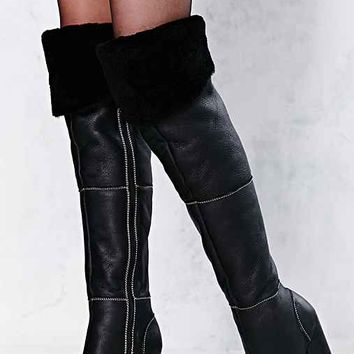 Jeffrey Campbell Buckman Shearling Tall Boot- Black