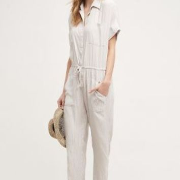 Faithfull the Brand Caprice Jumpsuit in Ivory Size: