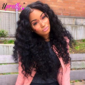 Upretty Loose Deep Wave Bundles With Closure Brazilian Hair Weave 3 Bundles With Closure Virgin Human Hair Bundles With Closure