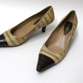 Vintage Liz Claiborne Pumps size 8.5M Tan and Brown