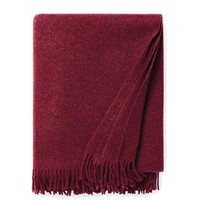 Vimmo Merlot Wool Throw