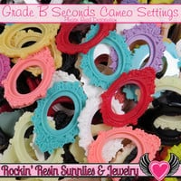 Grade B Seconds 30x40mm Resin Cameo Settings (5 pieces)