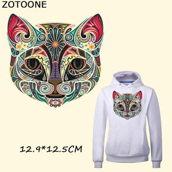 ZOTOONE Egyptian Style Multicolor Cat 12.9*12.5CM Iron on Patches