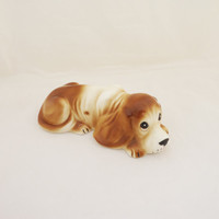Vintage Dog's Figurine, Vintage Cute Dog's Figurine, Porcelain Dog's Figurine, Spaniel Figurine, 1960s Dog's Figurine