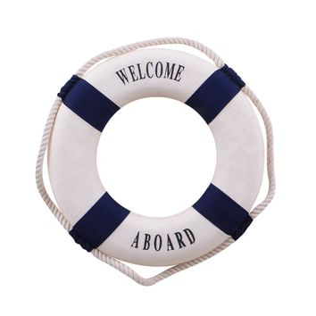 New Hot Sale 1PC Fashion Mediterranean Family Adorment Life Buoy Crafts Living Room Decoration Nautical Home Decor