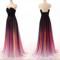 New Arrival Ombre Prom Dress Long Ombre Bridesmaid Dress APD1648