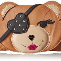 Betsey Johnson Cray Creatures Bear Cross-Body Bag