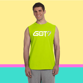 GOT7 Logo - White Sleeveless T-shirt