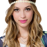 Daisy Crochet Stretch Headband