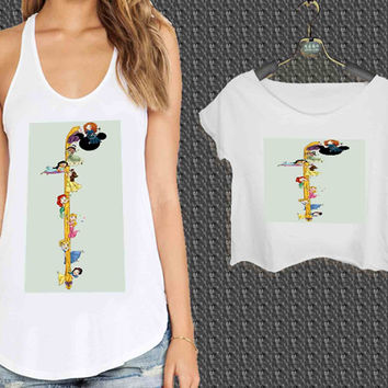 cute Disney princes For Woman Tank Top , Man Tank Top / Crop Shirt, Sexy Shirt,Cropped Shirt,Crop Tshirt Women,Crop Shirt Women S, M, L, XL, 2XL **