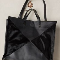 Clare V Calf Hair Patchwork Tote in Black Size: One Size Bags