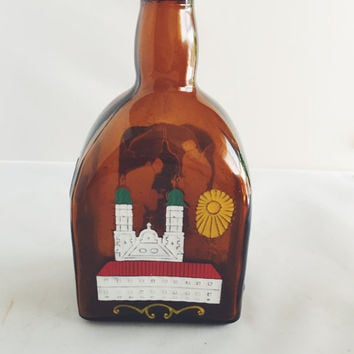 Antique Anton Riemerschmid Munchen Bottle Germany Liquor Handpainted