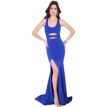 Terani Couture Cut-Out Racerback Formal Dress