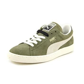 Puma Puma Suede Classic Women Round Toe Leather Green Sneakers