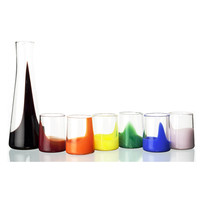 Marta Ash Set Carafe + 6 Glasses