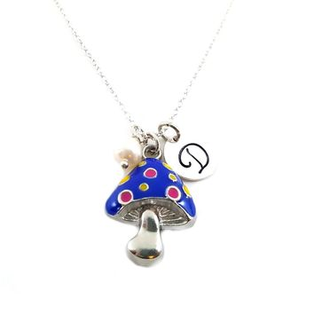 Mushroom Personalized Sterling Silver Necklace