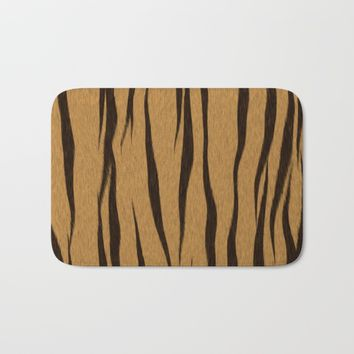 Animal Patterns - Tiger Bath Mat by Texnotropio