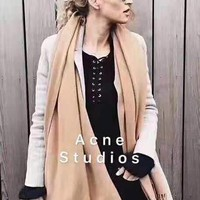 """Acne Studios"" Autumn Winter Fashionable Couple Cashmere Cape Tassel Scarf Scarves Shawl Accessories"