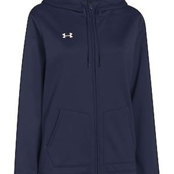 Under Armour Women's UA Storm Armour Fleece Full Zip Hoody, Midnight Navy/Whi...