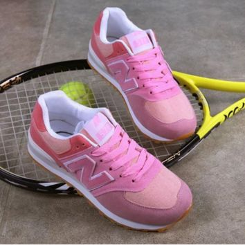 NEW BALANCE Women Men Casual Running Sport Shoes Sneakers N pink