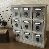 Wooden mini chest style organiser - Melody Maison®