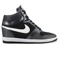 Nike Force Sky High Women's Hidden Wedge Sneakers (Black)