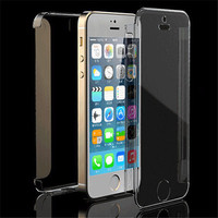 Hot Ultra Thin Transparent Clear Full Body Hard Case Cover For Apple iPhone 5 5S