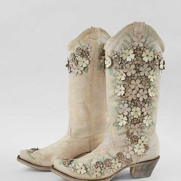 CORRAL FLORAL APPLIQUE COWBOY BOOT