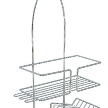 ATHome Chrome Shower Caddy with Soap Dish