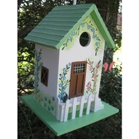 SheilaShrubs.com: Butterfly Cottage Birdhouse - Green 6002S by Home Bazaar: Birdhouses
