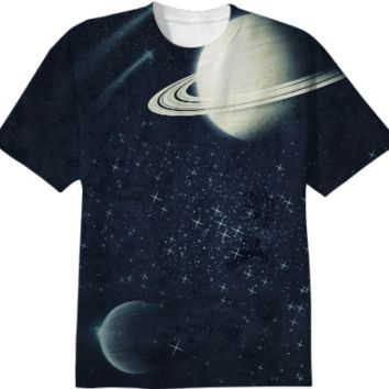 Deep Blue space tshirt created by duckyb   Print All Over Me