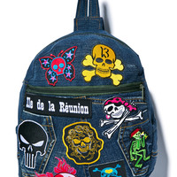 Kittiya Naranong In My Skull Mini Backpack Denim One