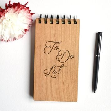 To Do List Notepad Wood. Wooden Stationery Notepads. -Back to School To Do Notebook - Things To Do Pad