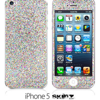 iPhone 5 NEW Colorful Glitter Skin FREE SHIPPING