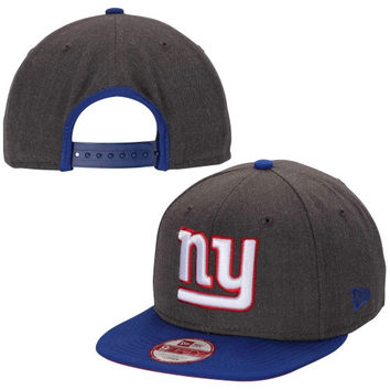 New York Giants New Era Original Fit Two-Tone Action 9FIFTY Snapback Hat – Heather Gray/Royal Blue