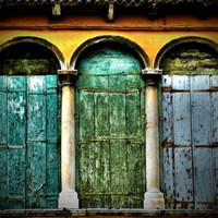 Italy Doors - Italy Photography - Door Photography - Rustic - Blue - Green - Gift Idea For Him - Gift For Her - Home Decor - Office Decor