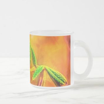 Dance Of Fire Frosted Glass Coffee Mug