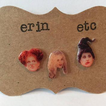 Handmade Plastic Fandom Earrings - Hocus Pocus - Sanderson Witches