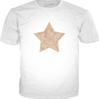 Iced coffee and white swirls doodles star Classic T-Shirt White