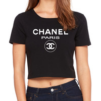 Chanel Paris Crop T-Shirt