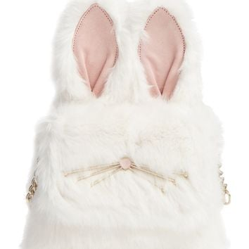 kate spade new york make magic rabbit faux fur shoulder bag/muff | Nordstrom
