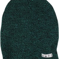 neff Men's Daily Heather Beanie, Black/Green, One Size