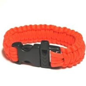Survival Bracelet w/Whistle - Orange