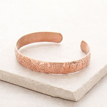 Astamangala Copper Healing Bangle