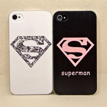 PEAPIX3 Cute superman case cover for iPhone 4 4s = 1946131780