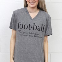 Football Webster Definition Tee {Grey}
