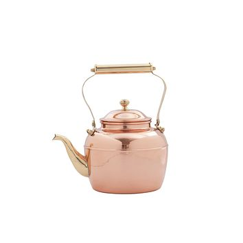 2½ QT Solid Copper Tea Kettle w/ Brass Spout and Handle by Old Dutch International