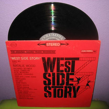LABOR DAY SALE Vinyl Record Album West Side Story Original Soundtrack Lp 1961 Natalie Wood Classic Musical
