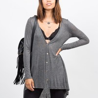 Pin Stripe Lightweight Cardigan