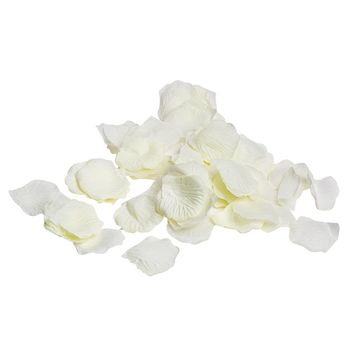 BULK Bag of 1,000 Silk Rose Petals in Ivory